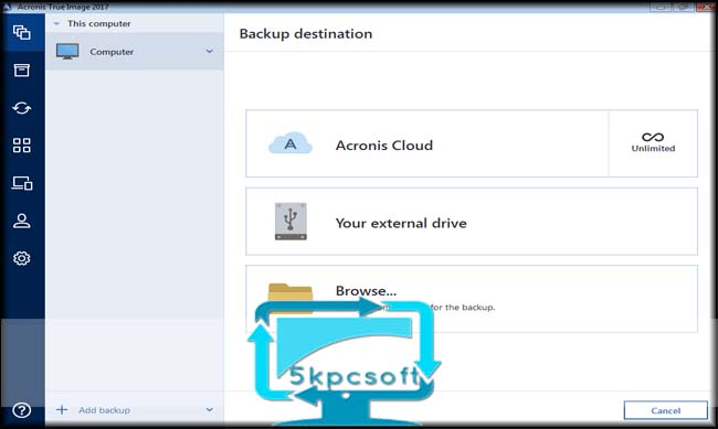 Acronis True Image 2017 20.0 Build 8053 Free Download for pc latest version 5kpcsoft