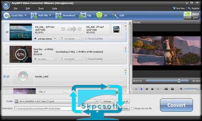 AnyMP4 Video Converter Ultimate full downlaod complete setup for windows