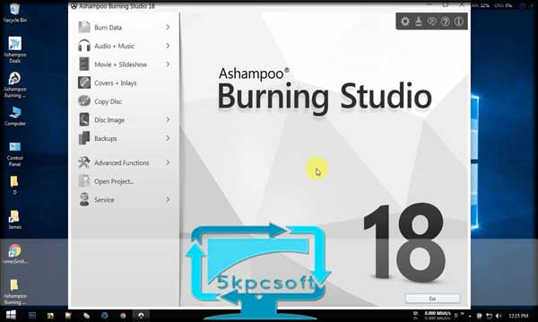 Ashampoo Burning Studio 18 free downlaod for pc latest version 5kpcsoft