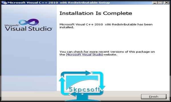 Microsoft Visual C++ 2010 SP1 Redistributable Package full downlaod complete setup for windows 5kpcsoft